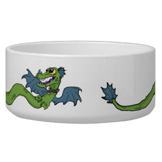 Wrap Around Dragon Dog Bowl