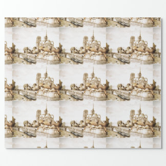 Wrap paper with 'Notre Dame Cathedral' image