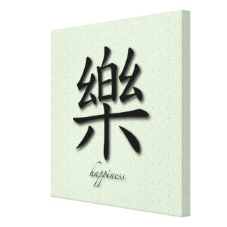 Wrapped Canvas Chinese Happiness Symbol On Mat
