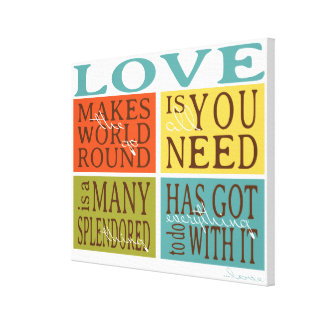 Wrapped Canvas Love Quote Typography Print