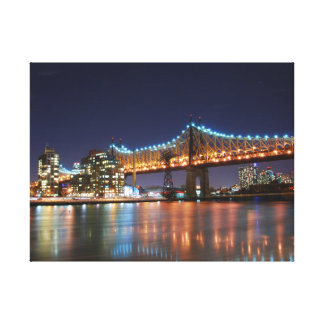 Wrapped Canvas - New York City nightscape Canvas Print