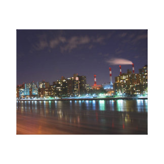 Wrapped Canvas - New York City nightscape Stretched Canvas Print
