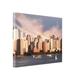 Wrapped Canvas NYC Lower Manhattan Skyline