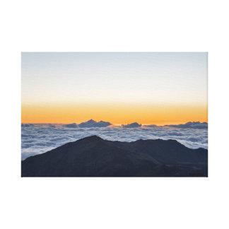 Wrapped canvas photograph of sunrise at Haleakala