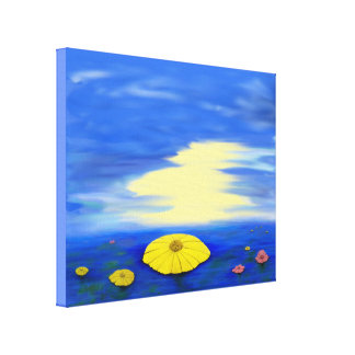 Wrapped Canvas Print Seascape painting