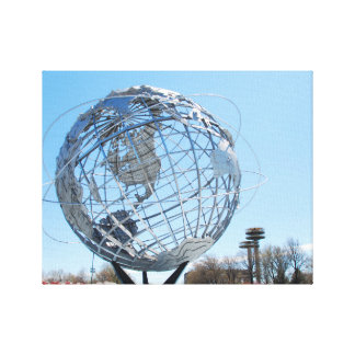 Wrapped Canvas - The Worlds Fair Globe, NYC Stretched Canvas Print