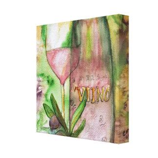 Wrapped Canvas - Vino