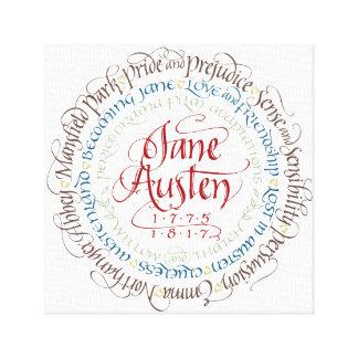 Wrapped Canvas Wall Art - Jane Austen Period Drama