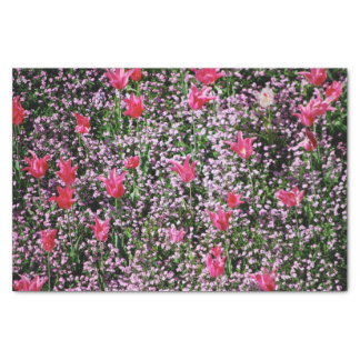 Wrapped In Pink Tulips Tissue Paper