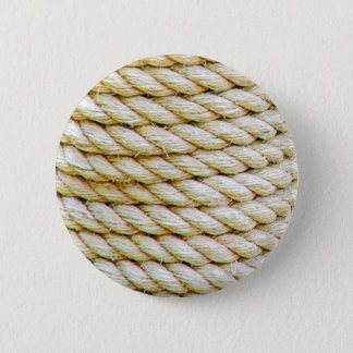 Wrapped rope 6 cm round badge