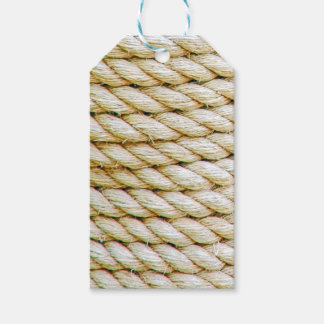 Wrapped rope gift tags
