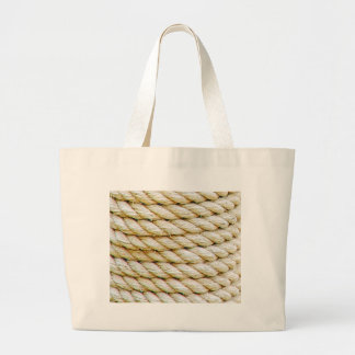 Wrapped rope large tote bag