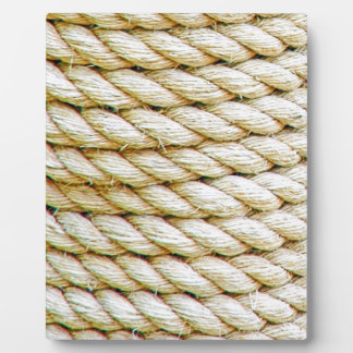 Wrapped rope plaque