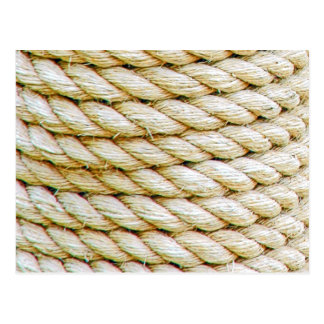 Wrapped rope postcard