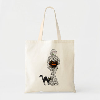 Wrapped Up Halloween Tote Bag Budget Tote Bag