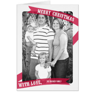 Wrapped With Love Christmas Photo Card