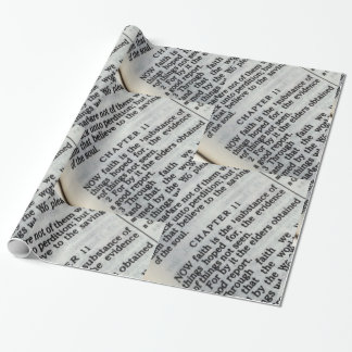 Wrapping Paper- Hebrews 11:1 Faith Scripture
