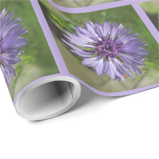 Wrapping Paper - Lilac/Purple Bachelor's Button