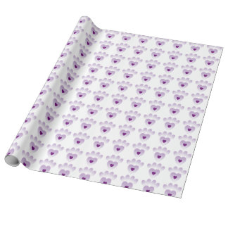 Wrapping Paper - Purple Paw Prints