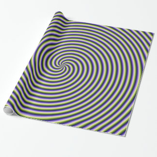 Wrapping Paper  Swirl in Green Blue and Violet