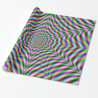 Wrapping Paper   Twelve Pointed Psychedelic Web