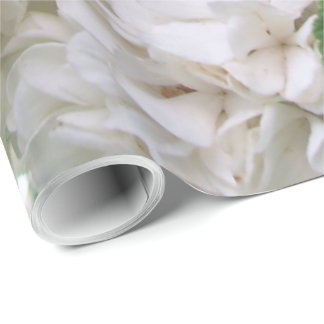 Wrapping Paper - White Hydrangea