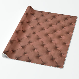 Wrapping paper with brown capitone texture