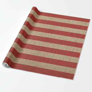 Wrapping paper with canvas lines red and brown