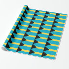 Wrapping paper with Flag of Bahamas