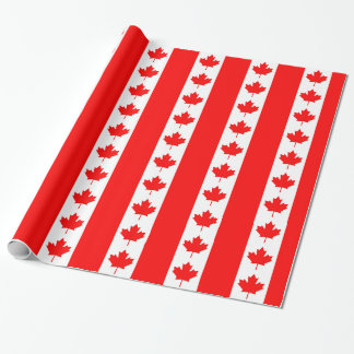 Wrapping paper with Flag of Canada