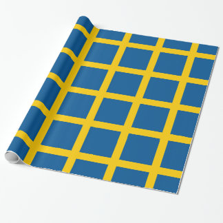 Wrapping paper with Flag of Sweden
