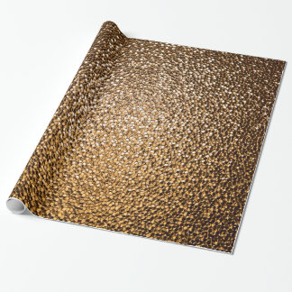 Wrapping paper with golden glitter glass pattern