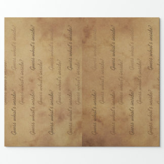 Wrapping paper with old vintage parchment