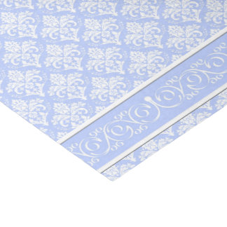 Wrapping Tissue - Wedgewood Blue Damask Tissue Paper