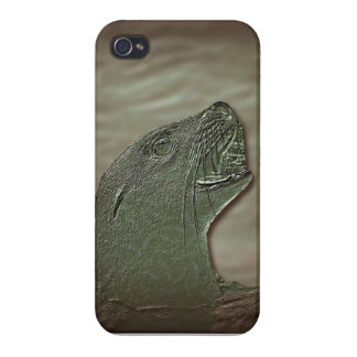 wraps with abstract sea-dog iPhone 4 case