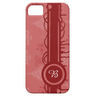 wraps with motives for Christmas and mono gram iPhone 5 Cover