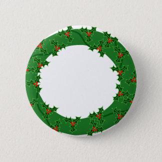 Wreath 6 Cm Round Badge