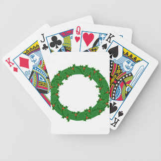 Wreath Bicycle Playing Cards