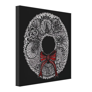 Wreath Stretched Canvas Prints