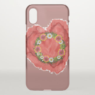 """Wreath """"Daisy Rose"""" Apple iPhone X Clearly iPhone X Case"""