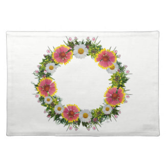 """Wreath """"Daisy Rose"""" Flowers Floral Placemat"""