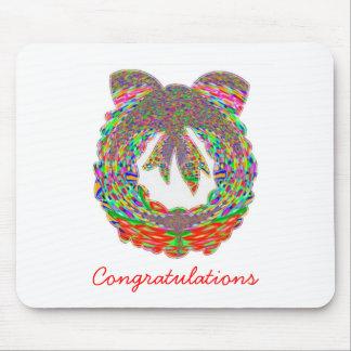 Wreath Diamond Jewel Pattern by Navin Mouse Pad