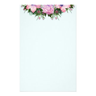 Wreath Dolly Peppermint Flowers Floral Vector Pink Stationery