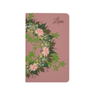 "Wreath ""Enjoy"" Flowers Pocket Journal"