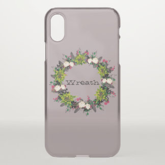 """Wreath """"Fab Cab"""" Apple iPhone X Clearly Deflector iPhone X Case"""