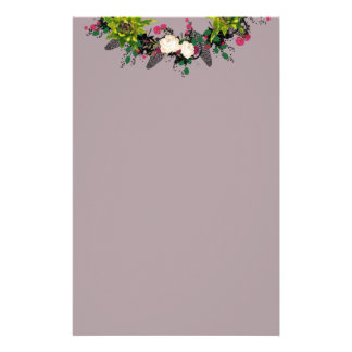 """Wreath """"Fab Cab"""" Flowers Floral Leaves Stationery"""