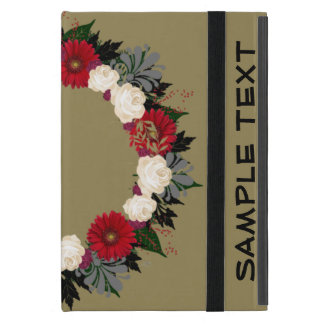 "Wreath "" Fleur"" Flowers Floral iPad Case"