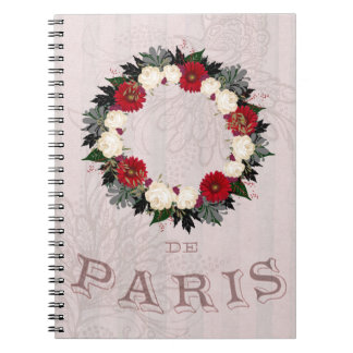 "Wreath ""Fleur"" Flowers Floral Notebook"