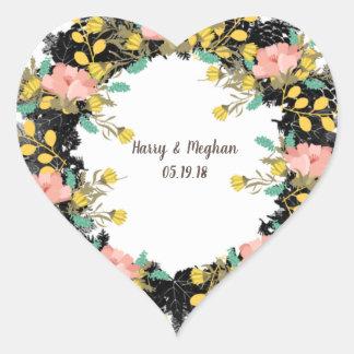 wreath flowers floral vector meghan megan personal heart sticker