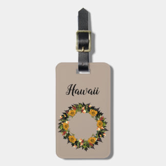 Wreath Flowers Floral Vector Wedding Holiday Luggage Tag